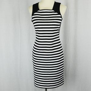 Michael Kors | Striped Ponte Dress